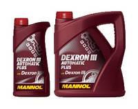 Трансмиссионное масло ATF DEXRON III AUTOMATIC PLUS MANNOL 1л