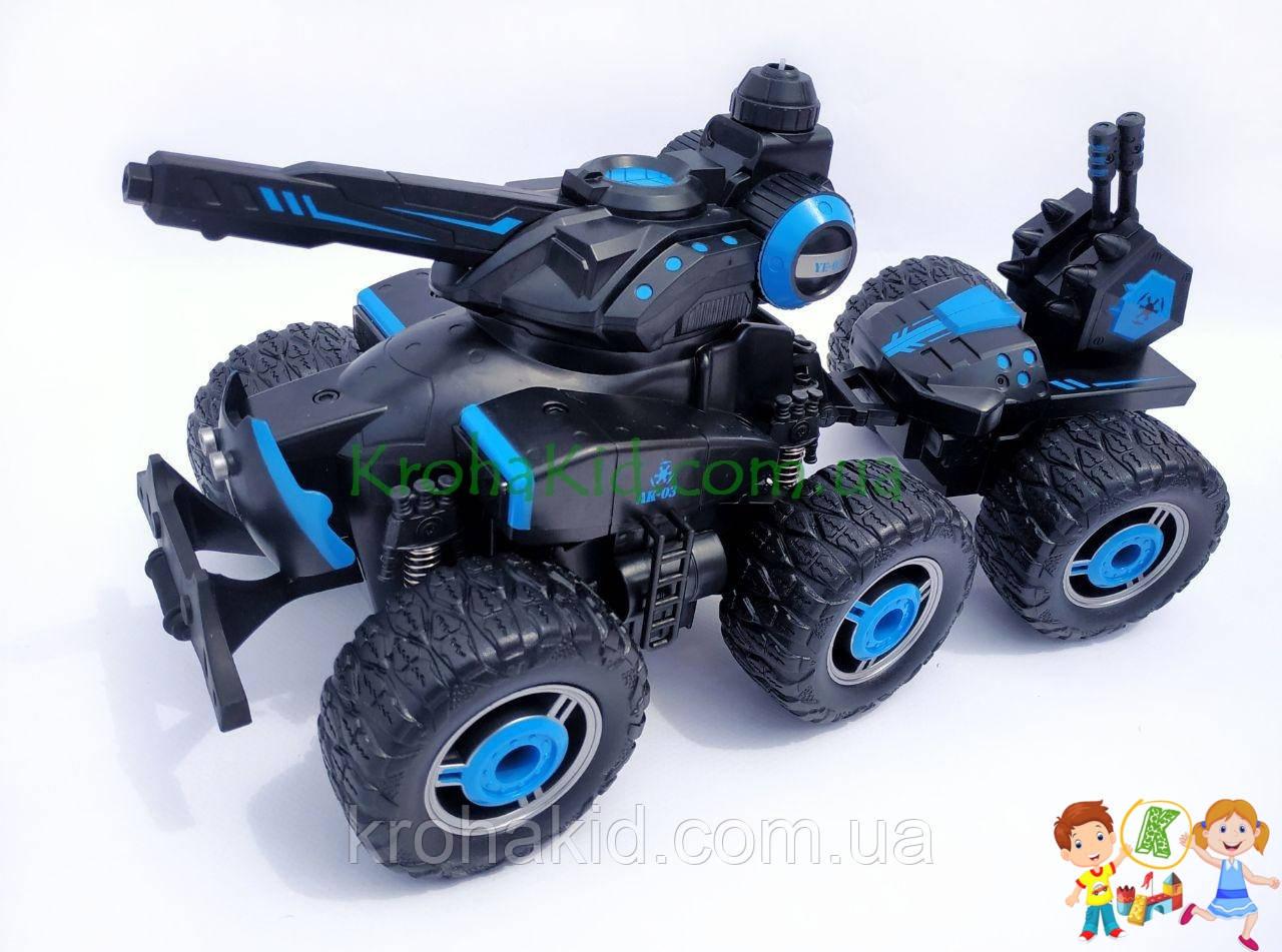 Машина на радиоуправлении джип вездеход с водяной пушкой, резиновые колеса, 37см, на аккумуляторе (YE81503)