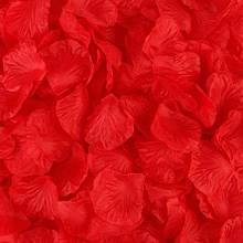Красные лепестки роз - в наборе 100шт., материал текстиль