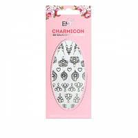 Наклейки для ногтей E.Mi Charmicon 3D Silicone Stickers (Украшение серебро № 2)