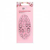 Наклейки для ногтей E.Mi Charmicon 3D Silicone Stickers (Рамочки серебро № 1)