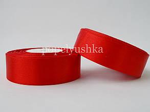 Стрічка атласна 2,5 см червона