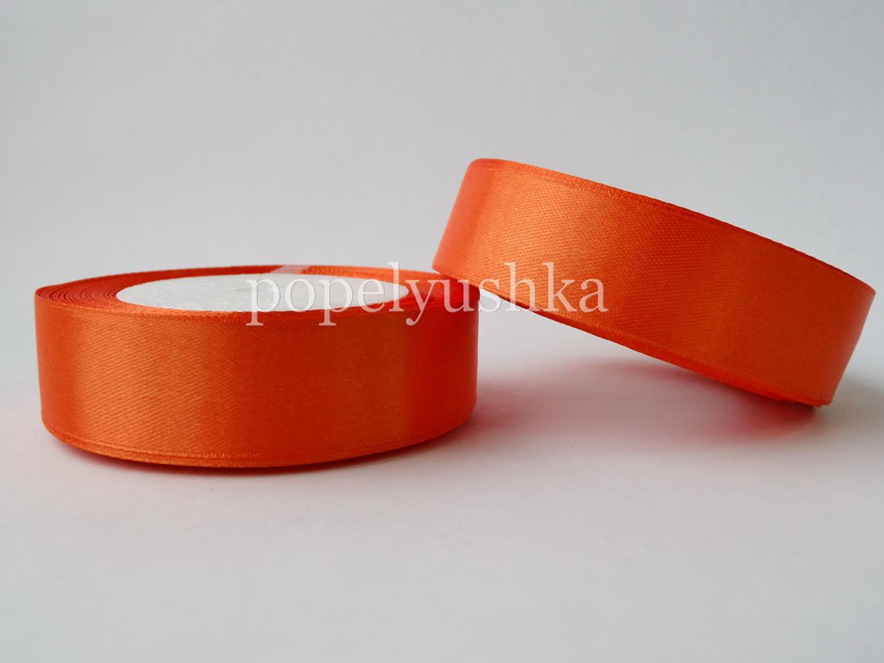 Стрічка атласна 2,5см оранжева
