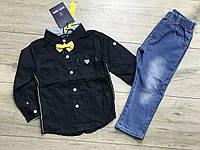 Костюм для мальчиков (Джинсы+ рубашка). 1- 5 лет.