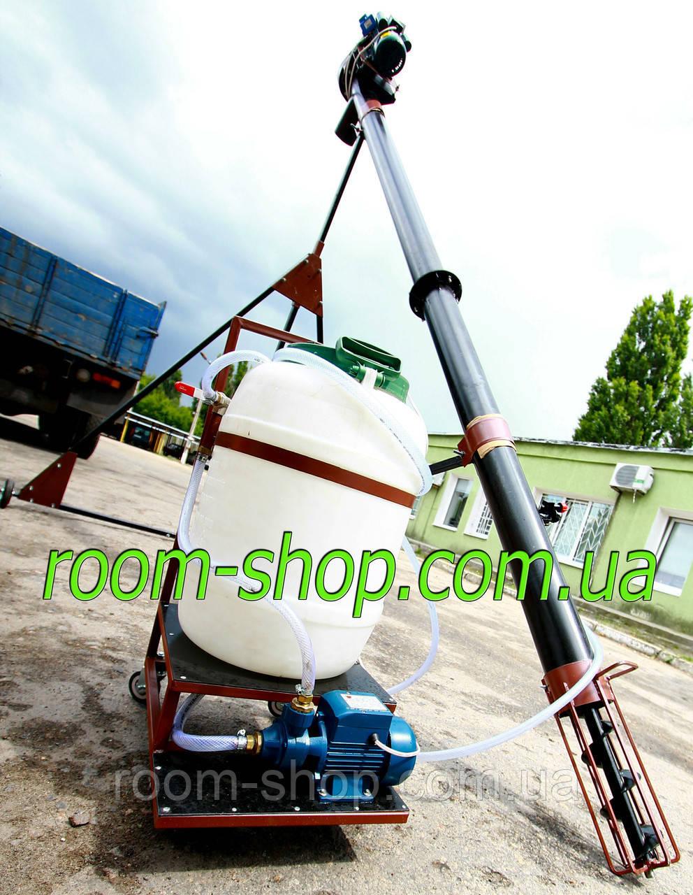 Шнековый погрузчик (зернометатель) диаметром 133 мм на 10 метров, с протравителем семян