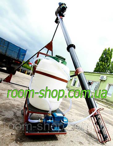 Шнековый погрузчик (зернометатель) диаметром 133 мм на 10 метров, с протравителем семян, фото 2