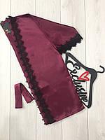 Атласный халат с кружевом, домашняя женская одежда
