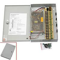 Блок питания в металлическом ящике для камер CCTV 18-кан 12В 20А 240Вт (z04530)