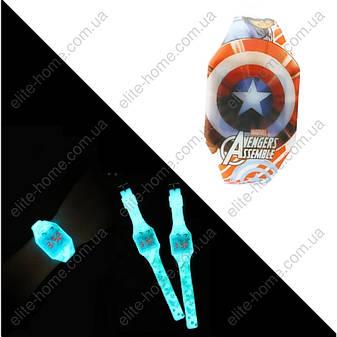 """Детские наручные LED часы """"Капитан Америка (Captain America)"""" (светятся в темноте), фото 2"""