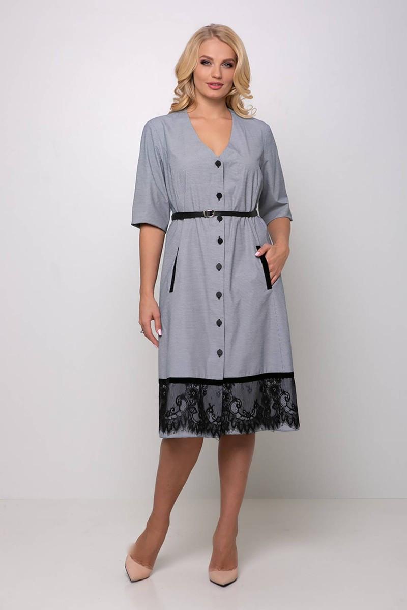 Платье большого размера Стрит (54-60) серое
