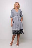 Платье большого размера Стрит (54-60) серое, фото 1