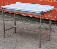 Стол производственный (с бортом без полки) 1200х600х850 см., фото 1