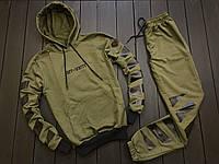 Мужской спортивный костюм Off-White (khaki/black), спортивный костюм офф-вайт, фото 1
