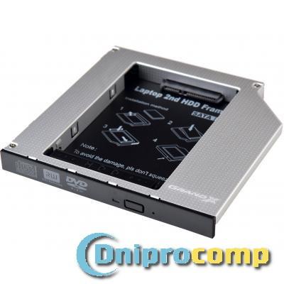 """Фрейм-перехідник TISHRIC HDD 2.5"""" to notebook 12.7 mm ODD SATA/mSATA"""