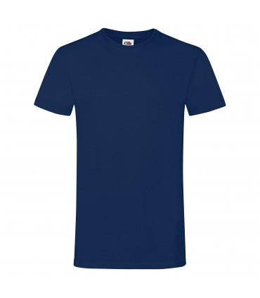 Мужская футболка темно-синяя приталенная 412-32