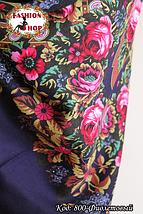 Павлопосадская фиолетовая шаль Непревзойдённая роспись, фото 3