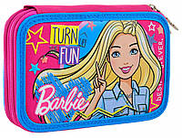Шкільний пенал 1 Вересня Barbie твердий подвійний 2 відділення Різнобарвний (532111), фото 1