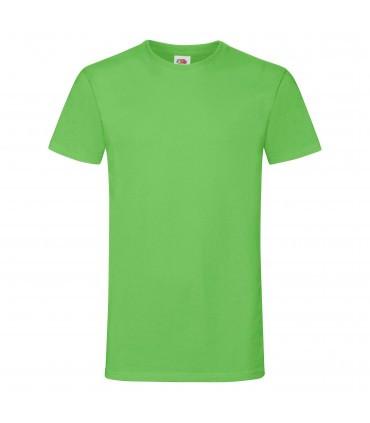 Мужская футболка лайм приталенная 412-LM