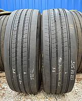 Грузовые шины б/у 315/70 R22.5 Firestone FS 422, 7-8 мм, 2015 г., пара