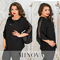 Блуза жіноча з креп-шифону, фото 1