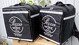 Каркасна термосумка - рюкзак для кур'єрської доставки страв та піци. 33*33, висота 42, фото 7