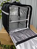 Термосумка для пиццы, еды, суши. Терморюкзак для доставки еды, пицы, суши. Каркас.  43*43, высота 45, фото 3