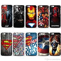 Чехол для телефона iphone 4, 4s, 5, 5s, 5c, 6, 6+, 7, 8, Marvel, печать чехлов на заказ по фото