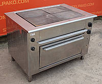 Электрическая плита «ПЭ-4Ш» с жарочным шкафом из нержавейки, (Украина), Б/у