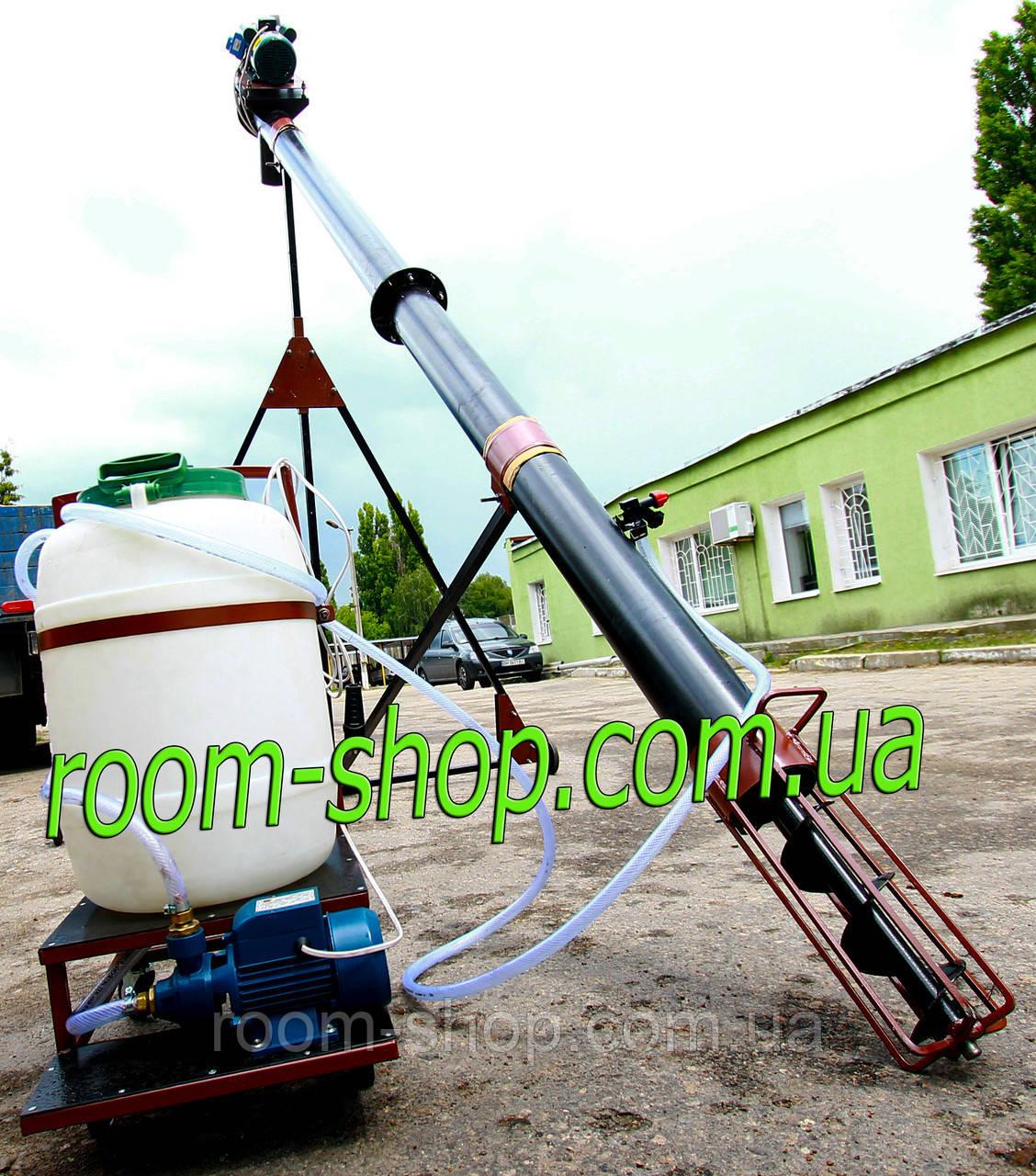 Шнековый погрузчик (транспортер) диаметром 159 мм на 6 метров, с протравителем семян