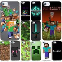 Чехол для телефона iphone 4, 4s, 5, 5s, 5c, 6, 6+, 7, 8 Minecraft печать чехлов по фото