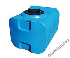 Дарим 69 грн на доставку. Бак, бочка, емкость 200 литров пищевая прямоугольная, крышка d 35 см SК