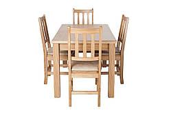 Обеденный комплект мебели из натурального дерева «Кантри рок» Дуб
