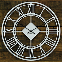 Металлические настенные часы London White (белые)