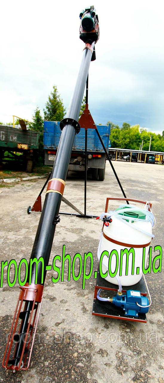 Шнековый погрузчик (зернометатель) диаметром 159 мм на 10 метров, с протравителем семян
