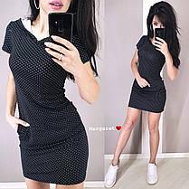 Повседневное платье с капюшоном, размеры от 42 до 46, фото 2