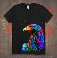 Прямая печать на черных футболках