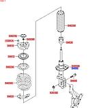 Амортизатор передний правый киа Спортейдж 4, KIA Sportage 2018- Qle, 54660d7000, фото 4