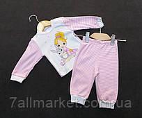 1f7991d244622 Пижама детская трикотажная с принтом на девочку 1-4 года