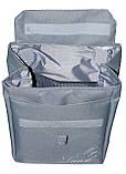Термосумка - рюкзак Dolphin. Ланч бэг с вышивкой My lunch. Серый, фото 2