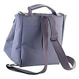 Термосумка - рюкзак Dolphin. Ланч бэг с вышивкой My lunch. Серый, фото 3