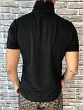 Хайповая Чоловіча Футболка Поло Versace чорна Преміум Якість 100% Бавовна Молодіжна Версаче репліка, фото 3