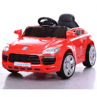 Детский красный электромобиль Porshe, на радиоуправлении M 3272EBLR-3 Красный