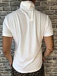 Молодежная Мужская Футболка Поло Versace белая Премиум Качество 100% Хлопок Модная Версаче реплика, фото 4