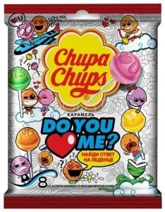 Леденцы на палочке Chupa Chups Do you love me, ассорти вкусов 40 шт