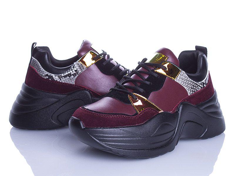 Кроссовки Violeta  женские бордовые, размеры в наличии ► [ 36, 37, 38, 39, 40, 41 ]