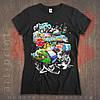 Полноцветная печать на черных футболках