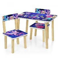 Детский столик деревянный с 2 стульчиками Bambi 501-55 My Little Pony (Литл Пони)