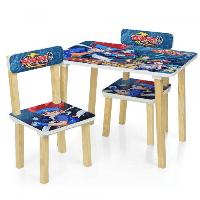Детский столик деревянный с 2 стульчиками Bambi  501-56 Beyblade