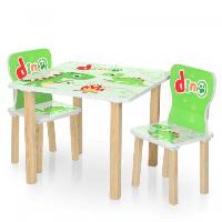 Детский столик деревянный с 2 стульчиками Bambi  506-73 Dino Дино