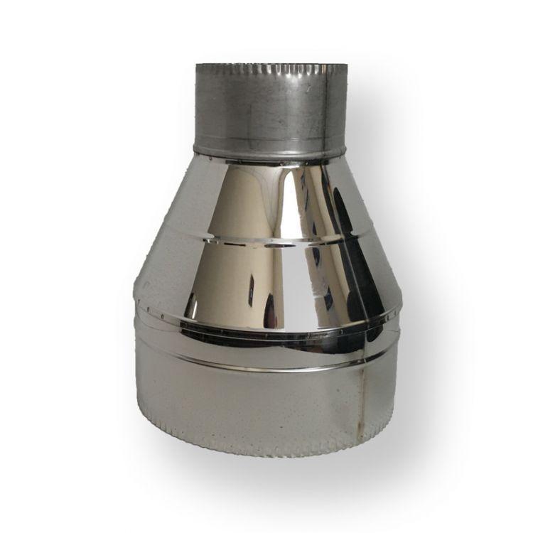 Обратный конус для дымохода  140/200 нерж/нерж 0,6 мм